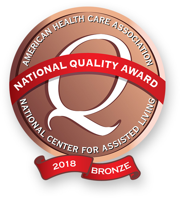 This WellBridge location is the proud recepient of the 2018 Bronze National Quality Award from the American Health Care Association National Center for Assisted Living.