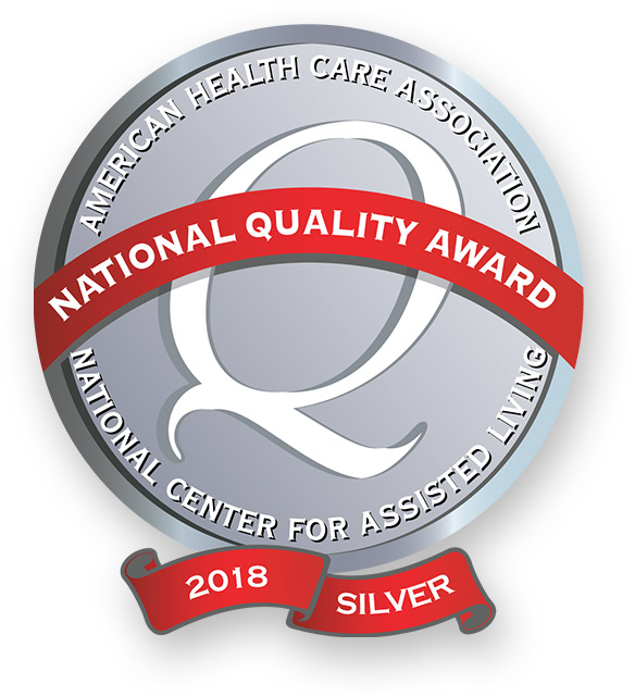 This WellBridge location is the proud recepient of the 2018 Silver National Quality Award from the American Health Care Association National Center for Assisted Living.