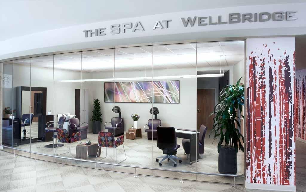 Luxurious, hotel-style amenities at WellBridge centers.